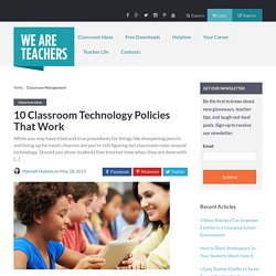 10 Classroom Technology Policies That Work - WeAreTeachers