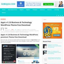 Appic v1.2.8 Business & Technology WordPress Theme free Dwonload
