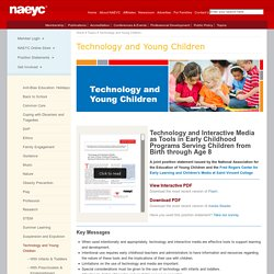 Examples of Technology Integration with Young Children