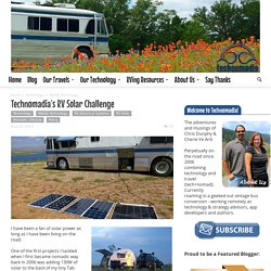 Technomadia's RV Solar Challenge