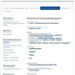 Ressources technopédagogiques – Service Suprarégional de soutien et d'expertise en déficience visuelle