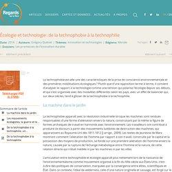 Écologie et technologie: de la technophobie à la technophilie