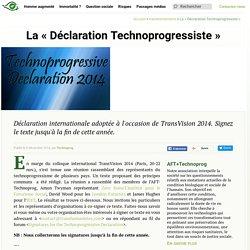 """La """"Déclaration Technoprogressiste"""" - Transhumanisme : Association Française Transhumaniste"""