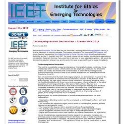Technoprogressive Declaration - Transvision 2014