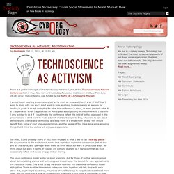 Technoscience As Activism: An Introduction