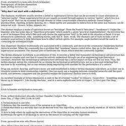 raves/spirit/technoshamanism/Technoshaman-Definitions.html