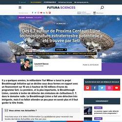 Des E.T autour de Proxima Centauri ? Une technosignature extraterrestre potentielle a été trouvée par Seti