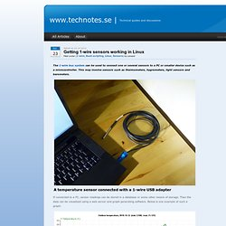 www.technotes.se » Blog Archive » Getting 1-wire sensors working in Linux