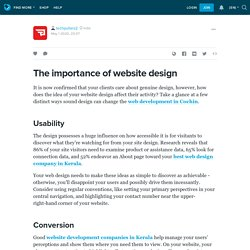 The importance of website design : techpullers2 — LiveJournal