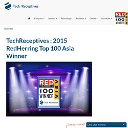 TechReceptives : 2015 RedHerring Top 100 Asia Winner