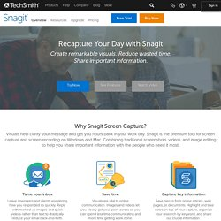 Snagit, screen capture software, home page