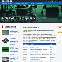 PC Buying Guide > The Enthusiast's PC