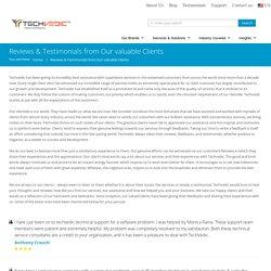 Techvedic Reviews and Client Testimonials for Tech support