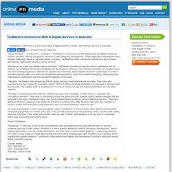 TecMaestro Announces Web & Digital Services in Australia