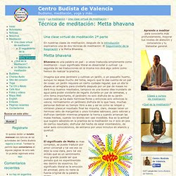 Técnica de meditación: Metta bhavana