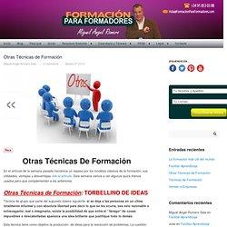 Otras Técnicas de Formación — Formación Para Formadores