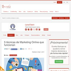 5 técnicas de Marketing Online que funcionan