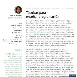 Técnicas para enseñar programación – Blog de NicoPaez