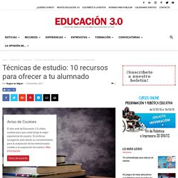 Técnicas de estudio: 10 recursos para ofrecer a tu alumnado