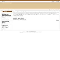 Tecnología Educativa - Material Didáctico Multimedia