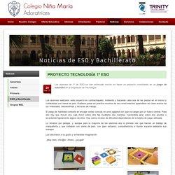 PROYECTO TECNOLOGÍA 1º ESO - Colegio Niña María Adoratrices