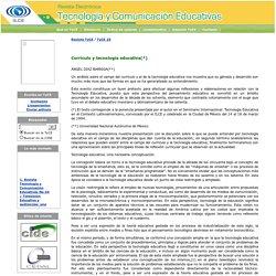 Revista Tecnología y Comunicación Educativas No. 25 / Currículo y tecnología educativa