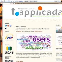 Tecnología Applicada: 5 herramientas on-line para crear nubes de palabras