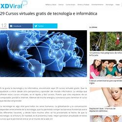 29 Cursos virtuales gratis de tecnología e informática