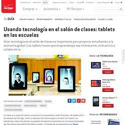 Usando tecnología en el salón de clases: tablets en las escuelas