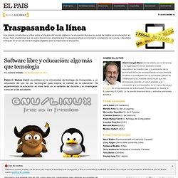 Software libre y educación: algo más que tecnología >> Traspasando la línea