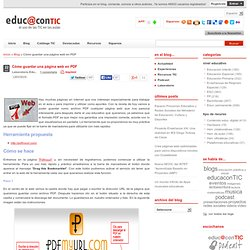 Cómo guardar una página web en PDF