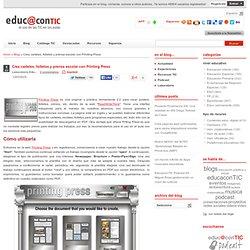 Carteles, folletos y prensa escolar con Printing Press