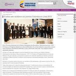 10 sitios web recibieron los premios Colombia en Línea 2013