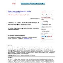Formación de valores mediante las tecnologías de la información y las comunicaciones