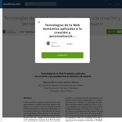 Tecnologías de la Web Semántica aplicadas a la creación y personalización de interfaces de usuario