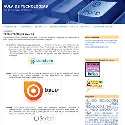 PRESENTACIONES Web 2.0