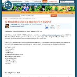 10 tecnologías web a aprender en el 2012