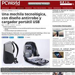 Una mochila tecnológica, con diseño antirrobo y cargador portátil USB