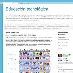 Educación tecnológica: Apps educativas organizadas y clasificadas