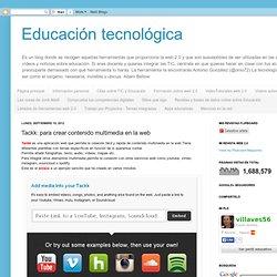 Tackk: para crear contenido multimedia en la web