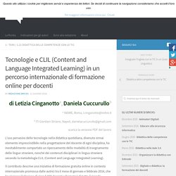 Tecnologie e CLIL (Content and Language Integrated Learning) in un percorso internazionale di formazione online per docenti – BRICKS