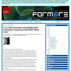 """L'uso delle tecnologie nella didattica della matematica: l'esperienza dell'ITSOS """"Marie Curie"""""""