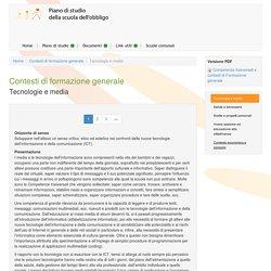 Tecnologie e media