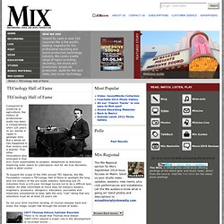 Mix magazine List of TECnology Hall of Fame Inductees