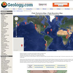 Plate Tectonics Map - Plate Boundary Map