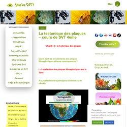 La tectonique des plaques - cours de SVT 4ème