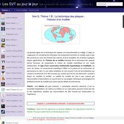 Les SVT au jour le jour: 1ère S, Thème 1 B : La tectonique des plaques : l'histoire d'un modèle