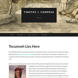 Tecumseh Lies Here