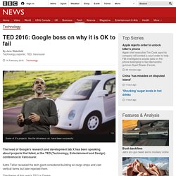 TED 2016: Google boss on why it is OK to fail