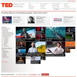 TED: Ideas worth spreading - StumbleUpon